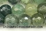 CAA5745 15 inches 6mm faceted round moss agate beads