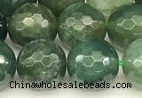 CAA5747 15 inches 10mm faceted round moss agate beads