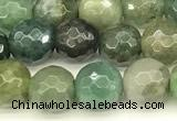 CAA5750 15 inches 6mm faceted round Indian agate beads