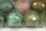 CAA5752 15 inches 10mm faceted round Indian agate beads
