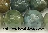 CAA5753 15 inches 12mm faceted round Indian agate beads