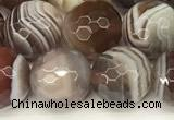 CAA5791 15 inches 8mm faceted round botswana agate beads