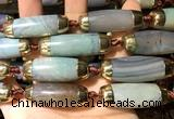 CAA5860 14*38mm - 16*43mm rice agate beads