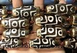 CAA5865 14*38mm - 16*43mm rice tibetan agate dzi beads
