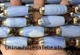 CAA5866 14*38mm - 16*43mm rice agate beads