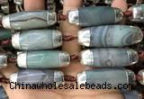 CAA5867 14*38mm - 16*43mm rice agate beads