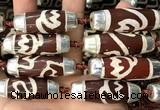 CAA5868 14*38mm - 16*43mm rice tibetan agate dzi beads