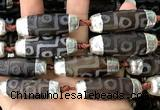 CAA5870 14*38mm - 16*43mm rice tibetan agate dzi beads