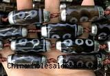 CAA5871 14*38mm - 16*43mm rice tibetan agate dzi beads
