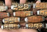 CAA5873 14*38mm - 16*43mm rice tibetan agate dzi beads
