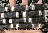 CAA5874 12*35mm - 14*40mm tube tibetan agate dzi beads