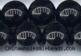 CAA5886 15 inches 10mm round black agate beads, 2mm hole