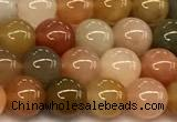 CAJ846 15 inches 6mm round jade gemstone beads