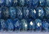 CAP748 15 inches 5*8mm faceted rondelle apatite beads