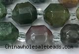 CCB1442 15 inches 7mm - 8mm faceted Indian agate beads