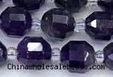 CCB1447 15 inches 7mm - 8mm faceted amethyst beads