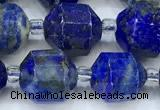 CCB1476 15 inches 9mm - 10mm faceted lapis lazuli beads