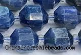CCB1516 15 inches 9mm - 10mm faceted kyanite beads