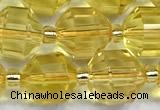 CCB1521 15 inches 8mm - 9mm faceted citrine gemstone beads