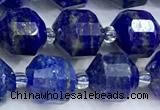CCB1523 15 inches 8mm - 9mm faceted lapis lazuli gemstone beads