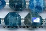 CCB1538 15 inches 11mm - 12mm faceted apatite gemstone beads