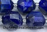 CCB1540 15 inches 11mm - 12mm faceted lapis lazuli beads