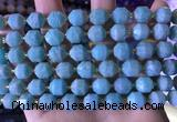 CCB840 15.5 inches 9*10mm faceted amazonite beads wholesale