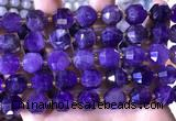 CCB850 15.5 inches 11*12mm faceted amethyst beads wholesale