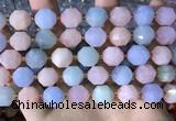 CCB855 15.5 inches 11*12mm faceted morganite beads wholesale