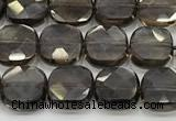 CCB908 15.5 inches 8*8mm faceted square smoky quartz beads