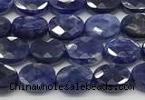 CCB928 15.5 inches 6*8mm faceted oval sodalite beads