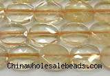 CCB931 15.5 inches 8*10mm faceted oval citrine beads