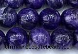 CCG326 15 inches 8mm round dyed charoite beads