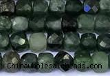 CCU907 15 inches 5mm - 6mm faceted cube jade beads