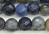 CDU380 15 inches 6mm faceted round dumortierite beads