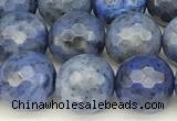 CDU386 15 inches 8mm faceted round dumortierite beads