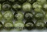 CGA841 15 inches 6mm round green garnet beads