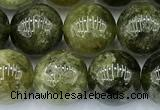 CGA843 15 inches 10mm round green garnet beads