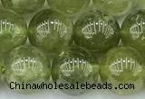 CGA852 15 inches 10mm round green garnet beads