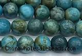 CGA926 15 inches 6mm round blue angel skin beads