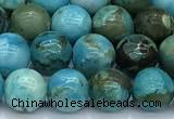CGA927 15 inches 8mm round blue angel skin beads