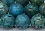 CGA929 15 inches 12mm round blue angel skin beads