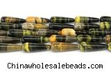 CHJ111 15 inches 10*30mm teardrop honeybee jasper beads