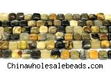 CHJ115 15 inches 8mm square honeybee jasper beads