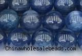 CKC791 15 inches 8mm round blue kyanite beads wholesale