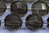 CME370 15 inches 10mm pumpkin smoky quartz beads