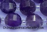 CME372 15 inches 10mm pumpkin amethyst beads