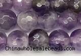 CNA1245 15 inches 6mm faceted round dogtooth amethyst beads