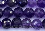 CNA1250 15 inches 6mm faceted round amethyst beads