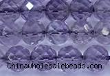 CNA1253 15 inches 6mm faceted round amethyst beads